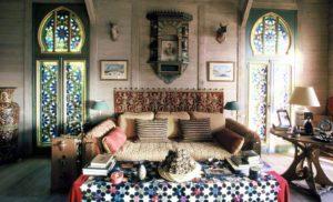 Интерьеры дома Ива-Сен Лорана в Довиле