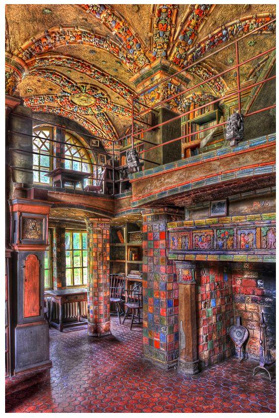 Библиотека в замке Мерсера